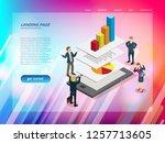 business technology website... | Shutterstock .eps vector #1257713605