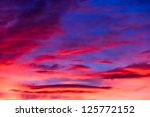 Vivid Sky Features Sunset...