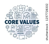 vector core values round... | Shutterstock .eps vector #1257728332