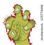 hand of zombie  vector... | Shutterstock .eps vector #125773646