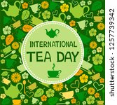 international tea day  december ... | Shutterstock .eps vector #1257739342