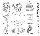Learning Card Alphabet. Letter...