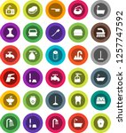 white solid icon set  soap... | Shutterstock .eps vector #1257747592