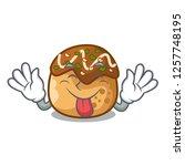 tongue out takoyaki shape in... | Shutterstock .eps vector #1257748195