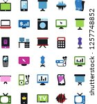 vector icon set   sewing... | Shutterstock .eps vector #1257748852