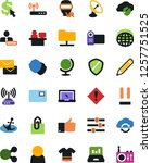 vector icon set   manager... | Shutterstock .eps vector #1257751525