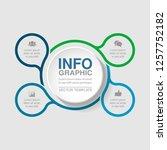 vector infographic template for ... | Shutterstock .eps vector #1257752182