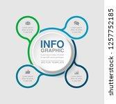 vector infographic template for ... | Shutterstock .eps vector #1257752185