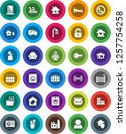white solid icon set  house... | Shutterstock .eps vector #1257754258