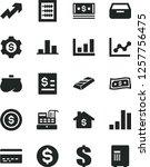 solid black vector icon set  ... | Shutterstock .eps vector #1257756475