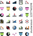 vector icon set   growth chart... | Shutterstock .eps vector #1257760198