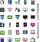 vector icon set   sewing... | Shutterstock .eps vector #1257760348
