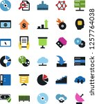 vector icon set   growth chart... | Shutterstock .eps vector #1257764038