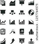 solid black vector icon set  ... | Shutterstock .eps vector #1257764575