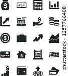 solid black vector icon set  ... | Shutterstock .eps vector #1257766408