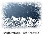 christmas greting card with... | Shutterstock .eps vector #1257766915
