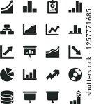 solid black vector icon set  ... | Shutterstock .eps vector #1257771685