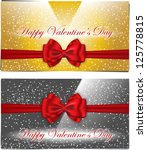 golden and silver valentines... | Shutterstock .eps vector #125778815