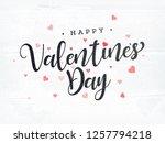 stylish text happy valentines... | Shutterstock .eps vector #1257794218