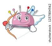 cupid wicker basket on a... | Shutterstock .eps vector #1257804562