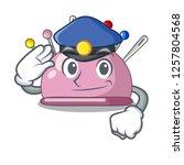 police wicker basket on a... | Shutterstock .eps vector #1257804568