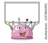 up board wicker basket on a... | Shutterstock .eps vector #1257804592