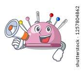 with megaphone wicker basket on ... | Shutterstock .eps vector #1257804862