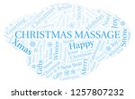 christmas massage word cloud. | Shutterstock . vector #1257807232