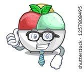 businessman sorbet with mint...   Shutterstock .eps vector #1257808495