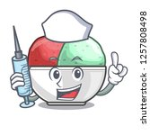 nurse sorbet with mint bowl on...   Shutterstock .eps vector #1257808498
