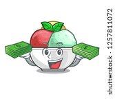 with money scoops of sorbet in...   Shutterstock .eps vector #1257811072