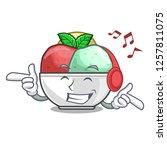 listening music scoops of...   Shutterstock .eps vector #1257811075