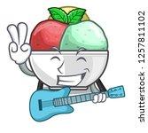 with guitar scoops of sorbet in ...   Shutterstock .eps vector #1257811102