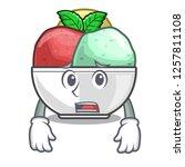 afraid scoops of sorbet in...   Shutterstock .eps vector #1257811108