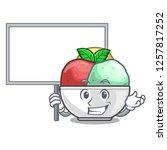 bring board sorbet ice cream in ...   Shutterstock .eps vector #1257817252
