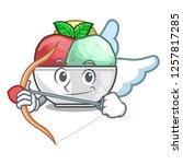 cupid sorbet ice cream in cup...   Shutterstock .eps vector #1257817285
