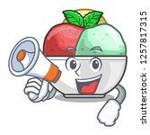with megaphone sorbet ice cream ...   Shutterstock .eps vector #1257817315