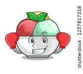 boxing sorbet ice cream in cup...   Shutterstock .eps vector #1257817318