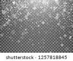 magic holiday snowfall template.... | Shutterstock . vector #1257818845