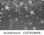magic christmas snow. abstract... | Shutterstock . vector #1257818848