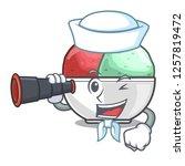sailor with binocular scoops of ...   Shutterstock .eps vector #1257819472