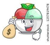 with money bag sorbet ice cream ...   Shutterstock .eps vector #1257819478