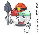 miner scoops of sorbet in...   Shutterstock .eps vector #1257819568