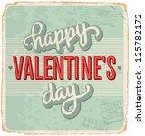 hand lettered vintage st.... | Shutterstock .eps vector #125782172