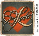 hand lettered vintage st.... | Shutterstock .eps vector #125782202