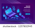 3d isometric template of e... | Shutterstock . vector #1257832945