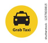 grab taxi flat icon. simple... | Shutterstock .eps vector #1257833815