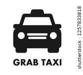 grab taxi icon. simple line... | Shutterstock .eps vector #1257833818