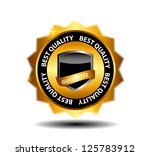 vector best choice  label with... | Shutterstock .eps vector #125783912