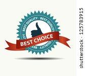 vector best choice retro  label ... | Shutterstock .eps vector #125783915